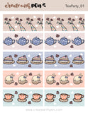 Tea Party 01 Washi Strips | November 2020 Collection