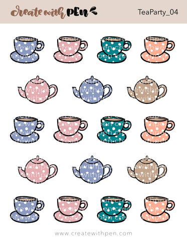 Tea Party 04 Tea Cups and Tea Pots | November 2020 Collection