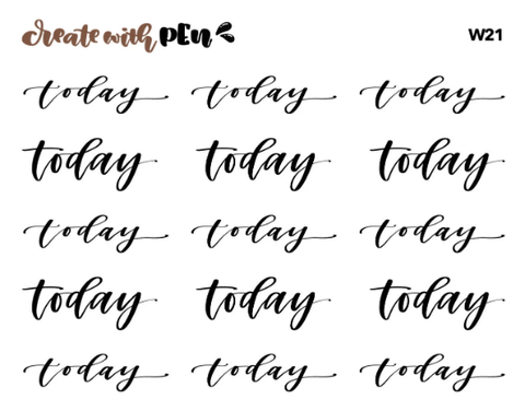 W21 | TODAY | Hand Letterings | Planner Stickers