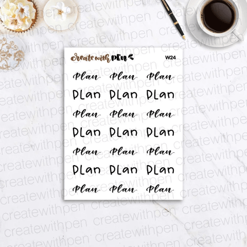 W24 | PLAN! | Planner Stickers