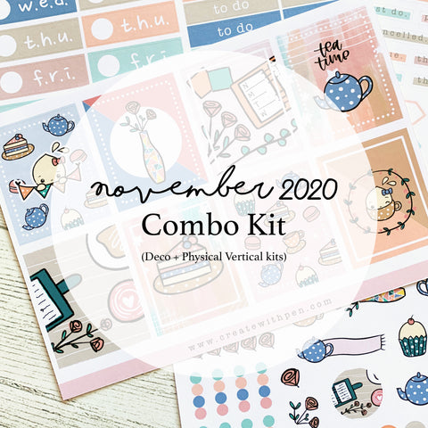 Monthly Subscription - Nov Combo Kit (Tea Party)