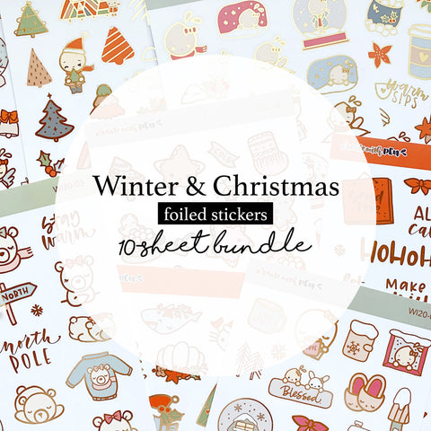 10-Sheet Bundle | Winter and Christmas 2020 Collection