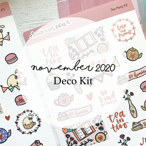 Monthly Subscription - Nov Deco Kit (Tea Party)