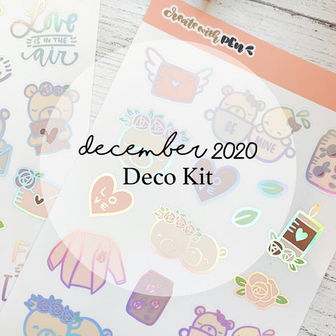 Monthly Subscription - Dec Deco Kit (Love You)