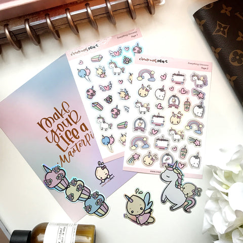 Everything Unicorns Sticker Kit | One time purchase
