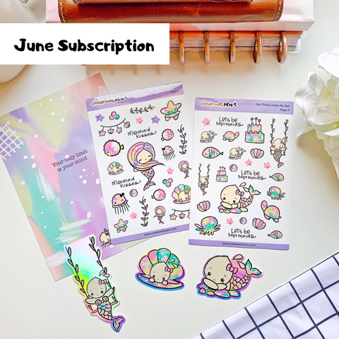 Monthly Subscription - June Kit (Mermaid)
