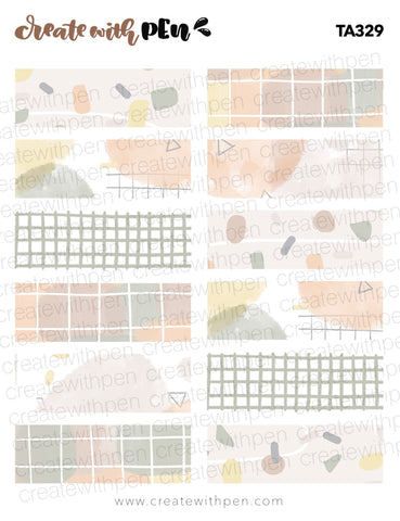 TA329 | August 2020 Themed Washi Strips
