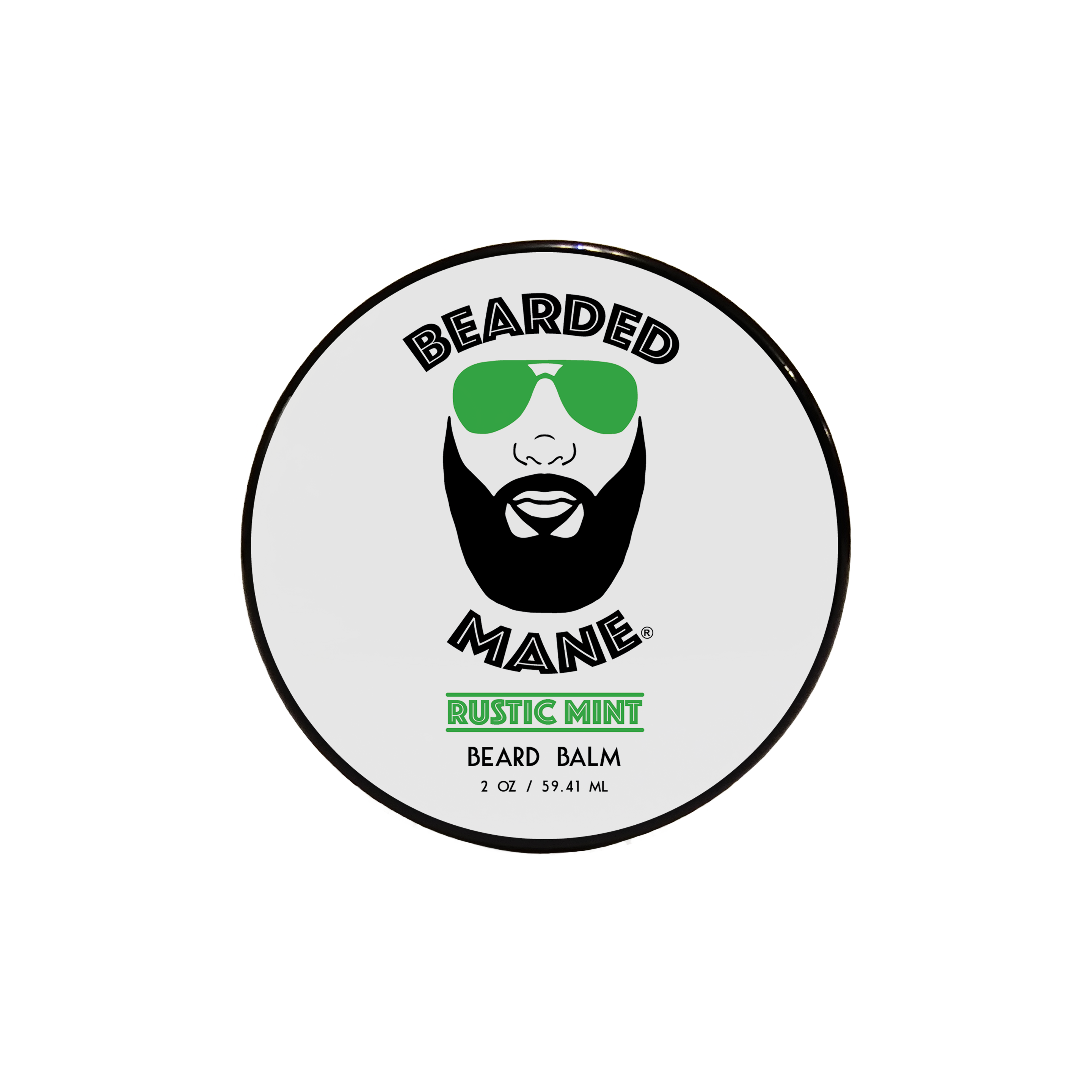 Bearded Mane Rustic Mint Beard Balm Top View