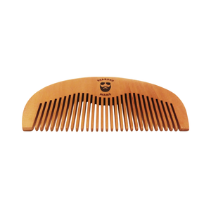 Bearded Mane Wide Tooth Wooden Comb Angled View