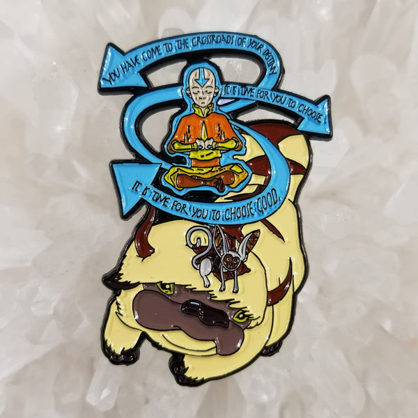 The Last Air Bender cartoon anime mash up enamel lapel hat pin