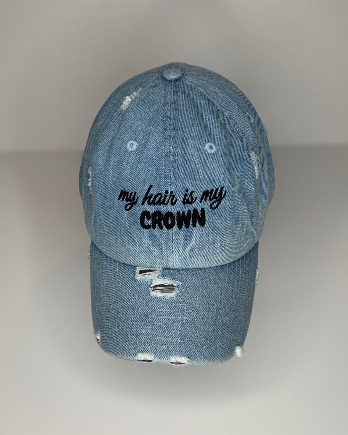 My hair is my crown - light denim