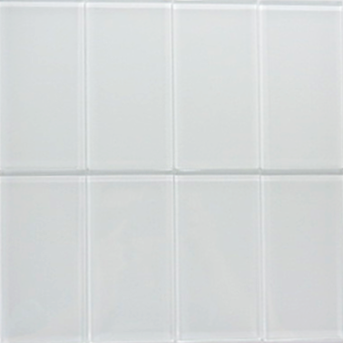 Super White Glass Subway Tile 3x6