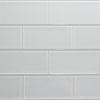 Super White Glass Subway Tile 3x6 Sample