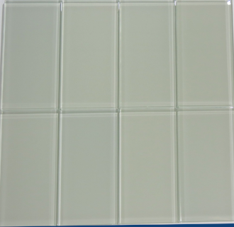 Moonlight Gray Glass Subway Tile 3x6