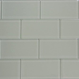 Moonlight Gray Glass Subway Tile 3x6 Sample
