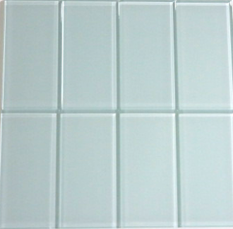 Coastal Haze Blue Glass Subway Tile 3x6
