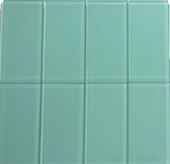 Sea Glass Green Glass Subway Tile 3x6
