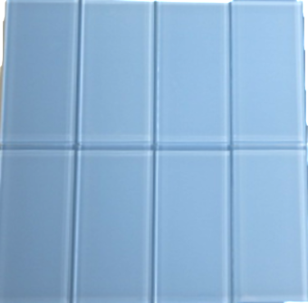 Sky Blue Glass Subway Tile 3x6