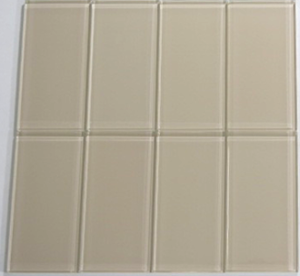 Vanilla Cream Glass Subway Tile 3x6