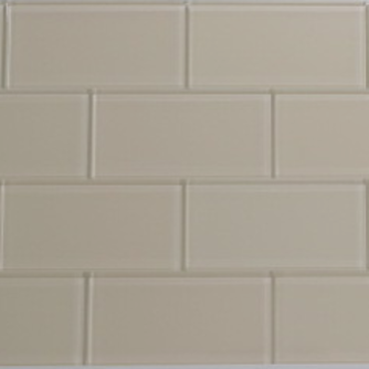 Vanilla Cream Glass Subway Tile 3x6 Sample