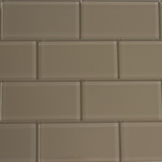 Caramel Beige Glass Subway Tile 3x6