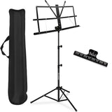 Kasonic Music Stand with Music Sheet Clip Holder, Carrying Bag (Black) - kasonicdeal