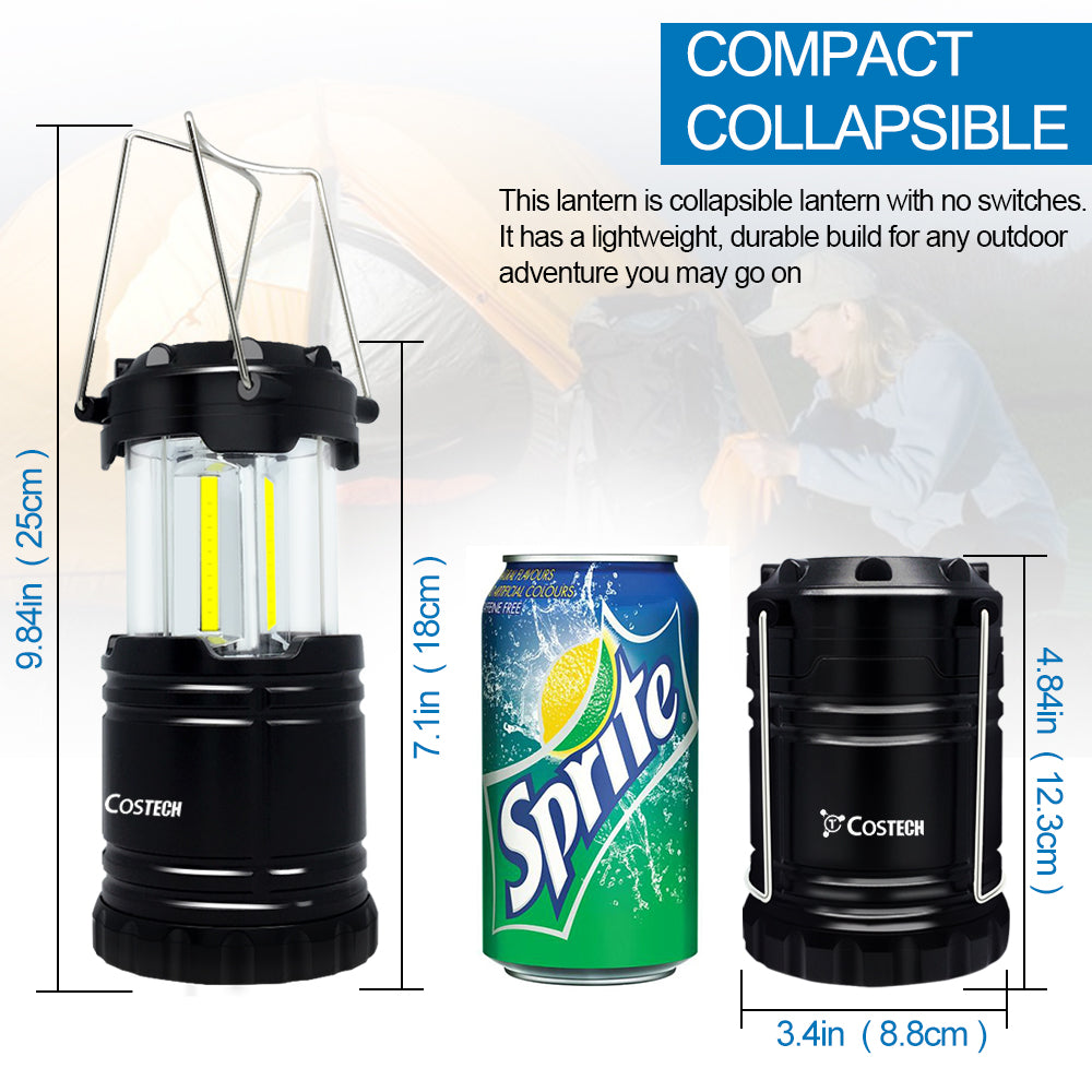 Camping Lantern, Ultra Bright COB Collapsible Portable  Lamp - kasonicdeal