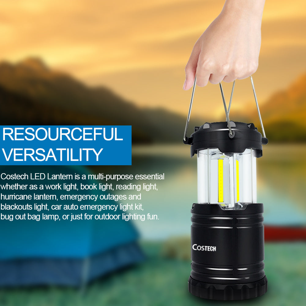 Camping Lantern, Ultra Bright COB Collapsible Portable Lamp 4 Pack - kasonicdeal