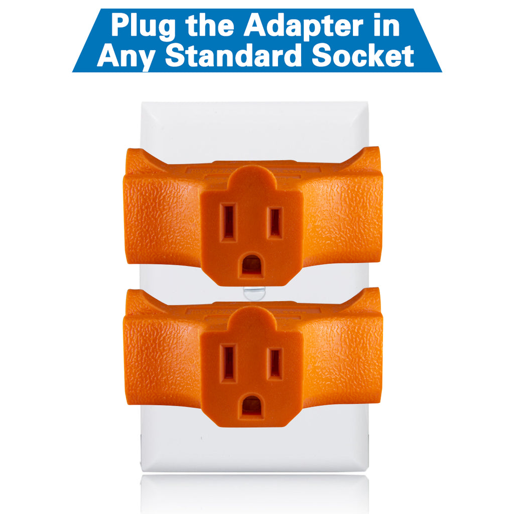 Kasonic 3-Outlet Grounding Adapter 3 Pack, UL Listed, Plug Extender; Heavy Duty Grounded Power Tap - kasonicdeal