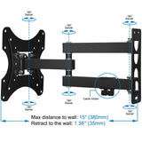 Full Motion Swivel Articulating Arm 26-55 Inches Flat Screen TVs Wall Mount Bracket - kasonicdeal