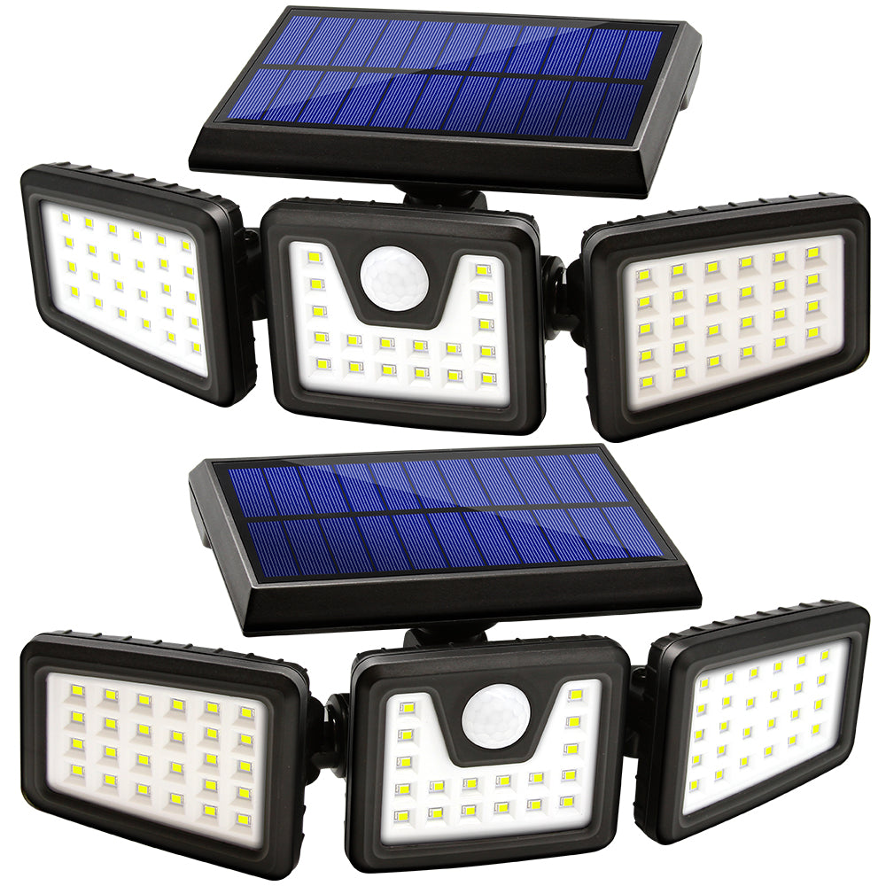 LED Solar Motion Sensor Lights Outdoor 2 Pack - kasonicdeal