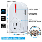 Kasonic Wireless Remote Control Outlet, Smart Home Remote Control Multi Purpose Combo Set 5 Electrical Outlets Plus 2 Remote - kasonicdeal
