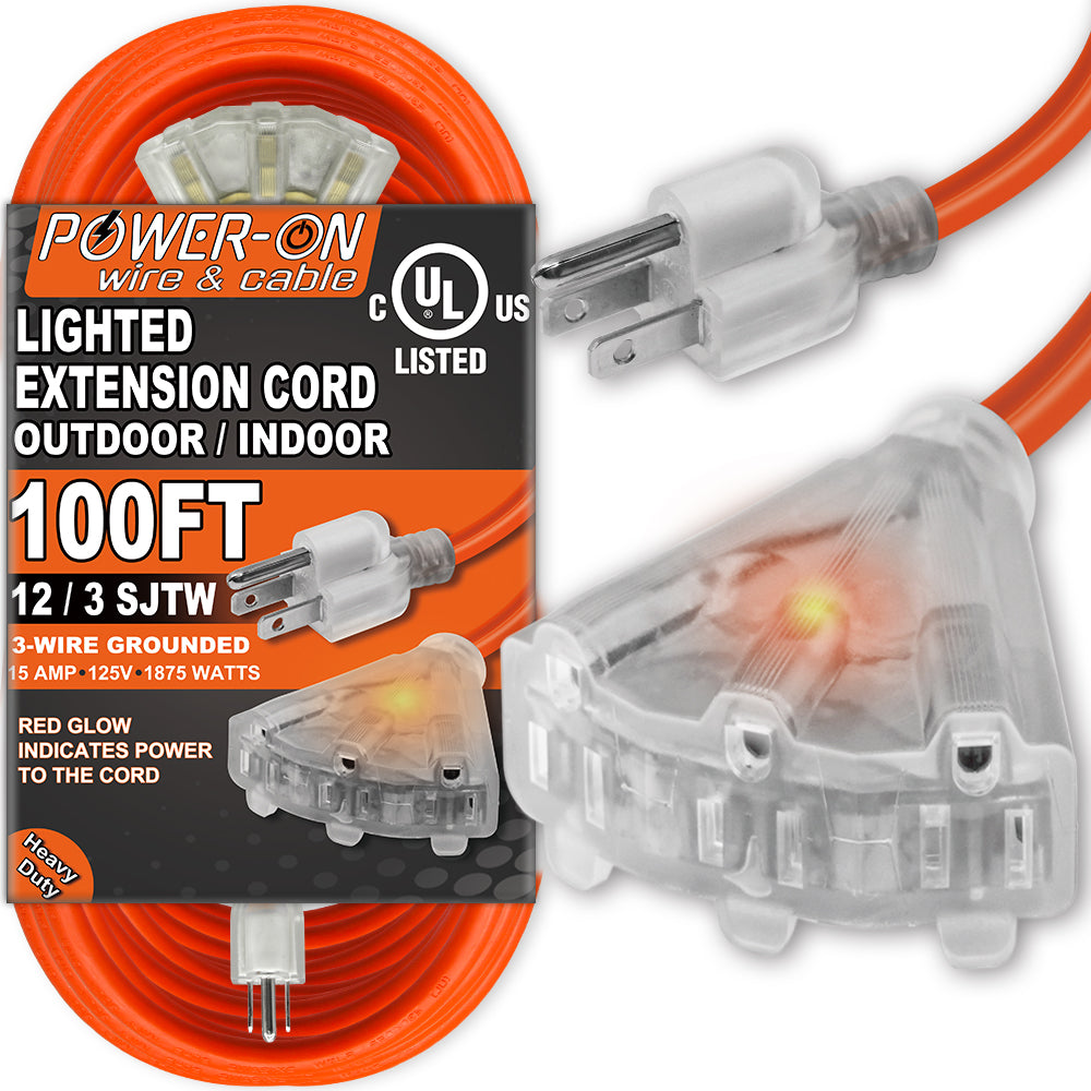 Maximm Cable 6 Feet Indoor 3 Outlet Extension Cord with Foot Switch 3 Electrical Power Outlet Foot Tap Extension Cord with Safety Water Proof Cover 2 Pack ETL Listed