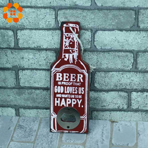 Rustic Retro Wooden Multipurpose Beer Bottle Opener DIY Kitchen