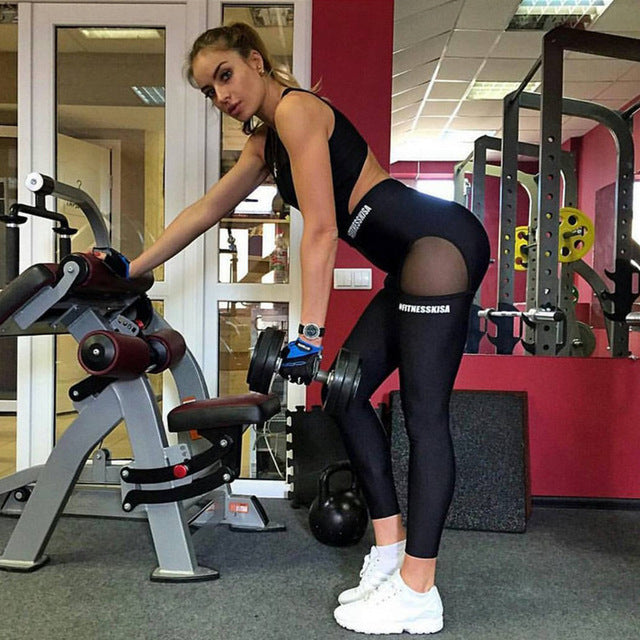 One Piece Sexy Women Gym Fitness Clothing Suit Quick Drying Elastic Fitness Tights Running Tight Jumpsuits Sports Yoga Sets