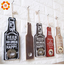 Load image into Gallery viewer, Rustic Retro Wooden Multipurpose Beer Bottle Opener DIY Kitchen
