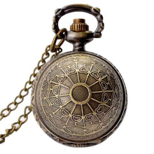 Load image into Gallery viewer, Retro Clock Harry Potter Necklace Pocket Watch