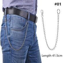 Load image into Gallery viewer, 1PC  Long Trousers Hipster Key Chains Punk Street Big Ring Key Chain Metal Wallet Belt Chain Pant Keychain Unisex HipHop Jewelry-in Key Chains