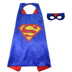 Superhero cape batman super Hero Costume for Children Halloween Party Costumes