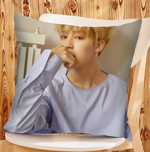 Load image into Gallery viewer, BTS Bangtan Boys Style Throw Pillowcase Square Pillow Cover Custom Gift