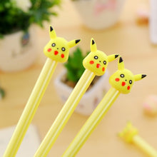 Load image into Gallery viewer, 2pc Cartoon Kawaii Cute Plastic Pokemon Gel Pens For Kids Novelty Gift Korean Stationery Office School Supplies