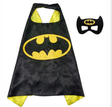 Load image into Gallery viewer, Superhero cape batman super Hero Costume for Children Halloween Party Costumes