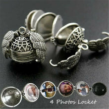 Load image into Gallery viewer, Expanding Photo Locket Necklace Pendant Angel Wings Gift Jewelry Decoration