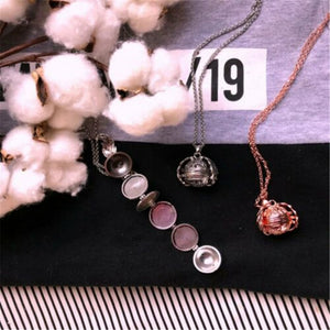 Expanding Photo Locket Necklace Pendant Angel Wings Gift Jewelry Decoration