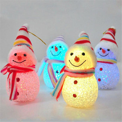 Light Up Glowing Snowy Snowman Warm White LEDs Christmas Xmas Decoration Figure Children Gifts Holiday Lighting