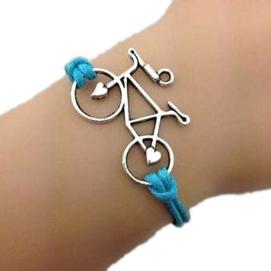 On-the-Go Bike Blue Bracelet