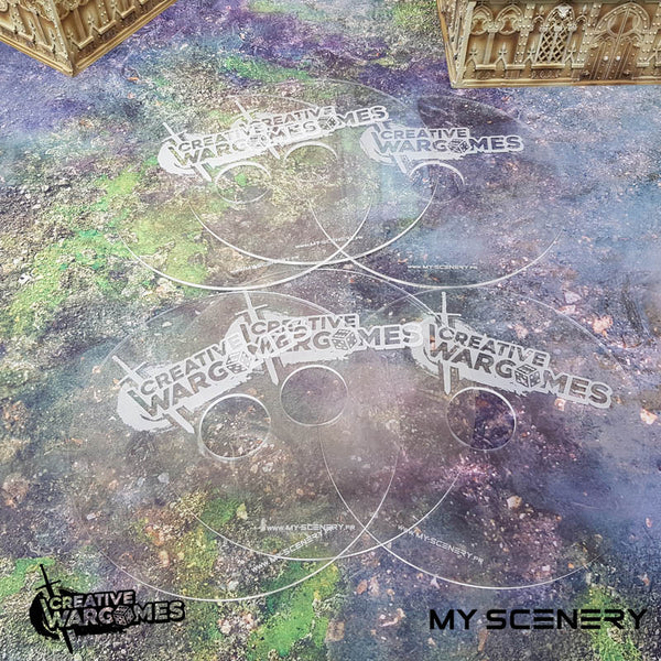 "Transparent my scenery 6"" pouce 6 40mm Donut Objectifs objectif Objective objectives  Markers 40mm 40 mm 123456 W40K warhammer 40 000 NEW40K V 9th edition My Scenery Creative wargame"