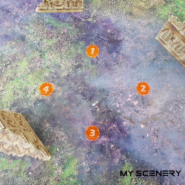 Missions scenario space marines Objectifs objectif Objective objectives  Markers 40mm 40 mm 123456 W40K warhammer 40 000 NEW40K V 9th edition