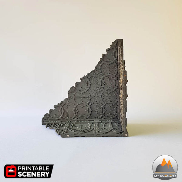 Ruined Tower gothic printable scenery wargames wargame warhammer 40k batiment building gothic gothique scenery décor decor