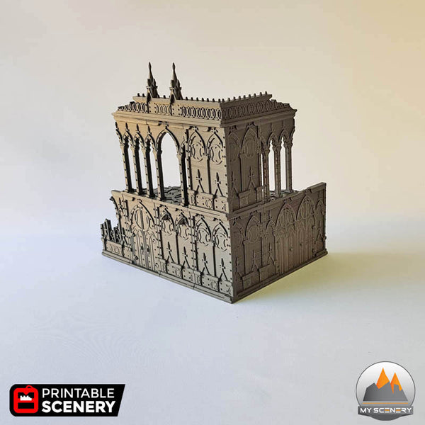 2 niv 03 batiment building gothic gothique scenery décor decor print 3D impression 3D